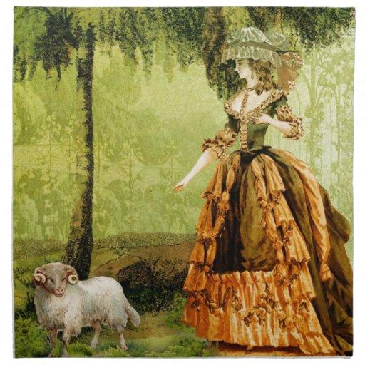 Pastoral Lady Cloth Napkins