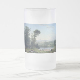 Pastoral Landscape by Asher Brown Durand Frosted Glass Beer Mug