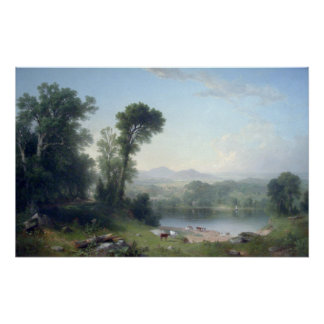 Pastoral Landscape by Asher Brown Durand Poster
