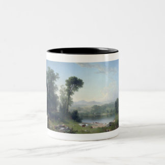Pastoral Landscape by Asher Brown Durand Two-Tone Coffee Mug