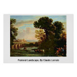 Pastoral Landscape. By Claude Lorrain Print
