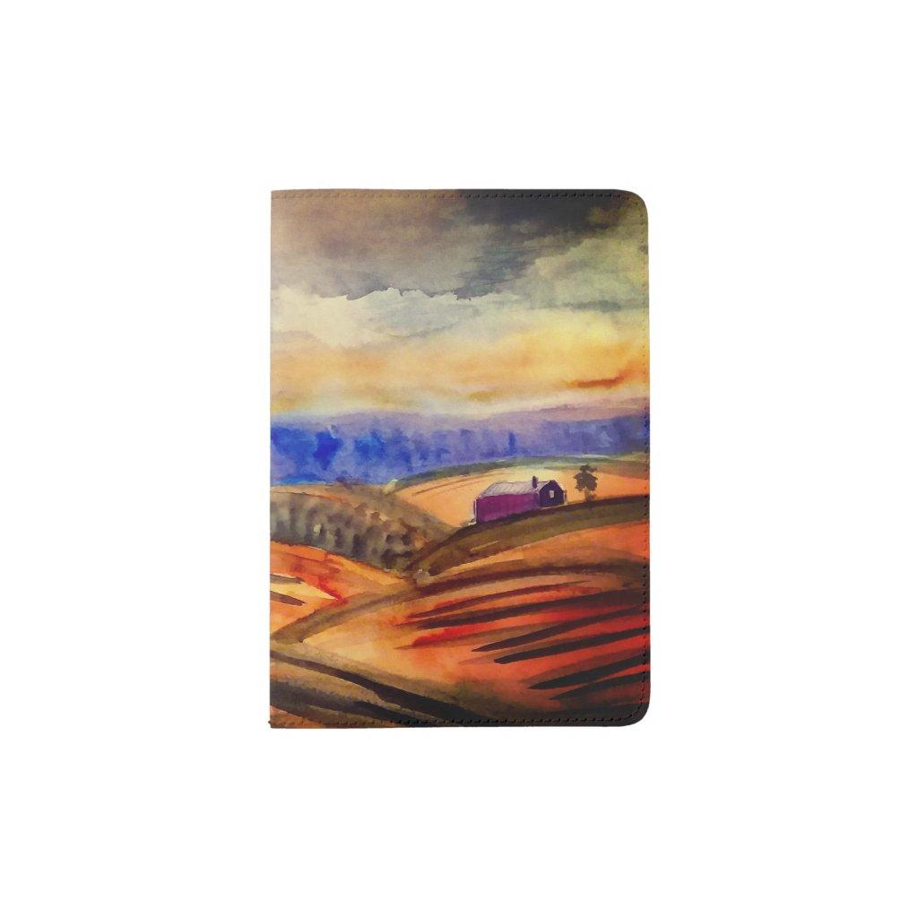Pastoral Landscape Passport Holder