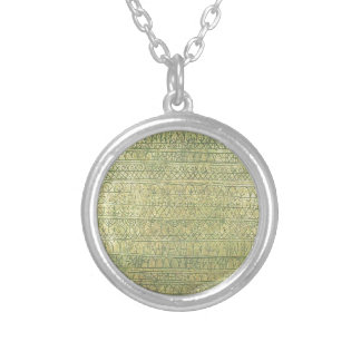 Pastoral (Rhythms) by Paul Klee Round Pendant Necklace
