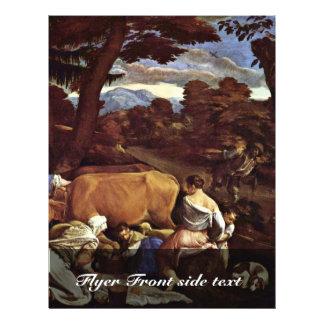 """Pastoral Scene By Ponte Jacopo Da (Best Quality) 8.5"""" X 11"""" Flyer"""