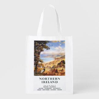 Pastoral Scene Man and Dog British Railways Grocery Bags