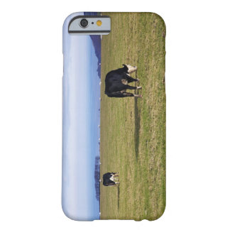 Pastoral scene of cows in field overlooking barely there iPhone 6 case