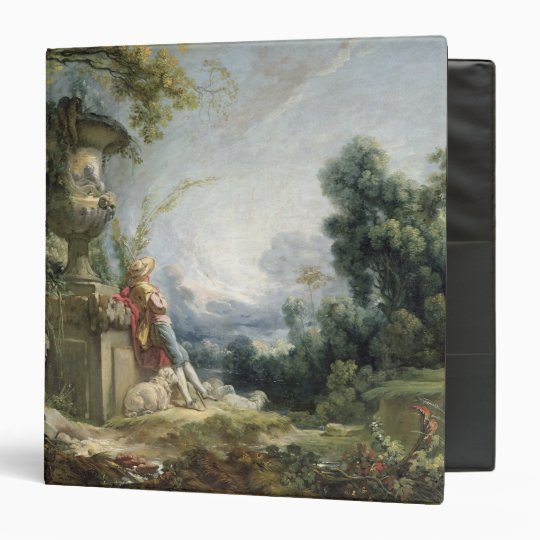 Pastoral Scene, or Young Shepherd in a Landscape 3 Ring Binder