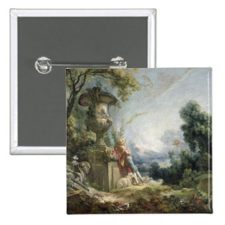 Pastoral Scene, or Young Shepherd in a Landscape 2 Inch Square Button