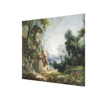 Pastoral Scene or Young Shepherd in a Landscape Canvas Prints