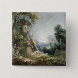 Pastoral Scene, or Young Shepherd in a Landscape Pinback Button