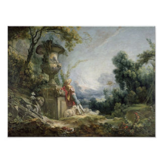 Pastoral Scene, or Young Shepherd in a Landscape Poster