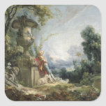 Pastoral Scene, or Young Shepherd in a Landscape Stickers