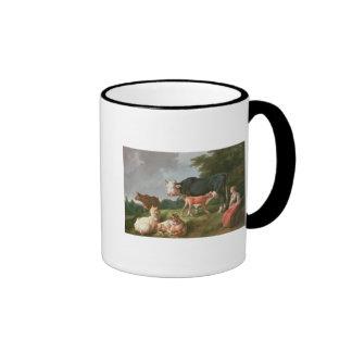 Pastoral Scene Ringer Mug