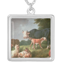 Pastoral Scene Silver Plated Necklace