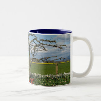Pastoral Scene Two-Tone Coffee Mug