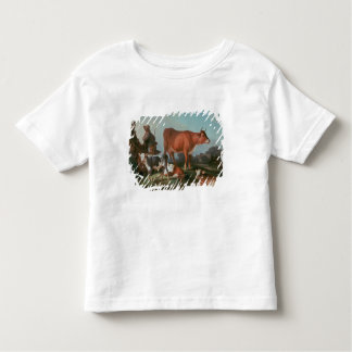 Pastoral scene with a cowherd toddler t-shirt