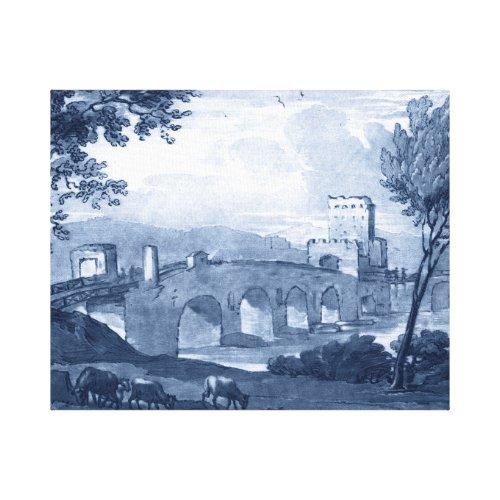Pastoral Toile - Bridge Canvas Print