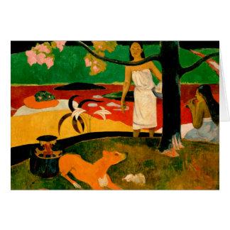 Pastorales Tahitiennes by Paul Gauguin Card