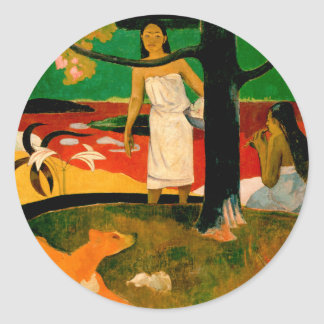 Pastorales Tahitiennes by Paul Gauguin Classic Round Sticker