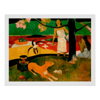 Pastorales Tahitiennes by Paul Gauguin Poster