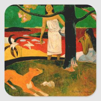 Pastorales Tahitiennes by Paul Gauguin Square Sticker