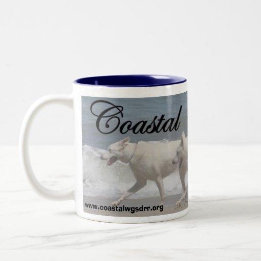 Pastores alemanes blancos taza de café