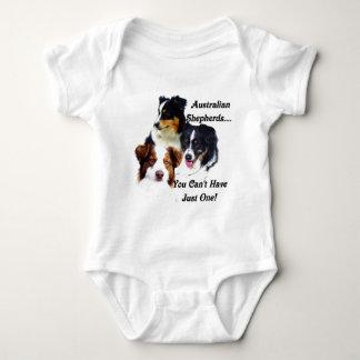 Pastores australianos body para bebé