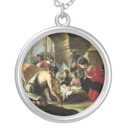 Pastores que adoran del siglo XVII Colgante Redondo