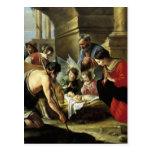 Pastores que adoran del siglo XVII Postal