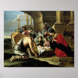 Pastores que adoran del siglo XVII Póster