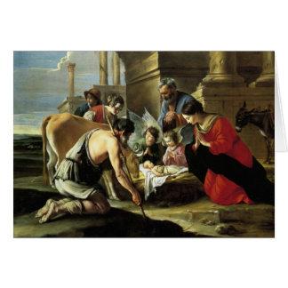 Pastores que adoran del siglo XVII Tarjeta De Felicitación