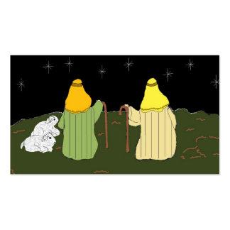 Pastores que guardan sus ovejas tarjetas de visita