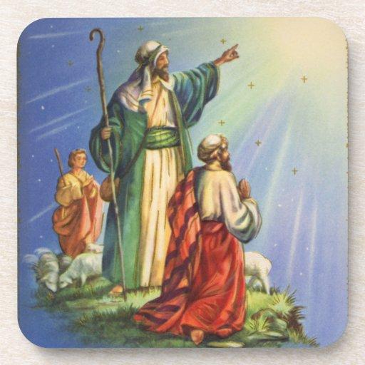 Pastores y la estrella posavasos
