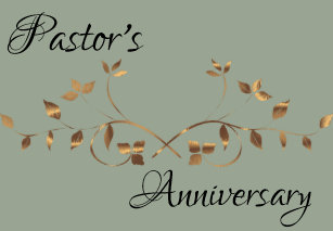 Pastor Anniversary Cards