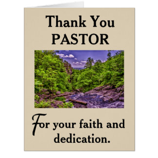 Pastor's Appreciation Card