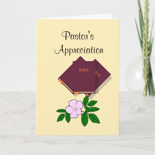 Pastor S Appreciation Thank You Card Zazzle Com