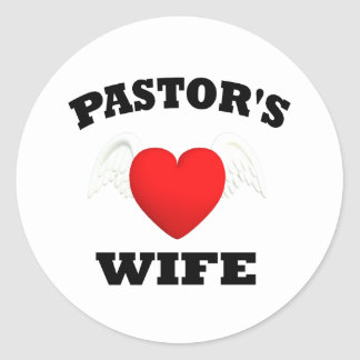 Pastor's Wife Classic Round Sticker