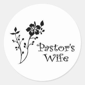 Pastors Wife Elegance Classic Round Sticker