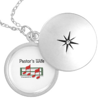 Pastors Wife - Notes Silver Plated Necklace