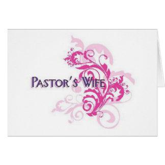 Pastors Wife Pink Card