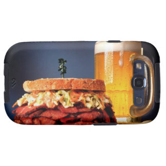 Pastrami sandwich with mug of beer galaxy SIII cases