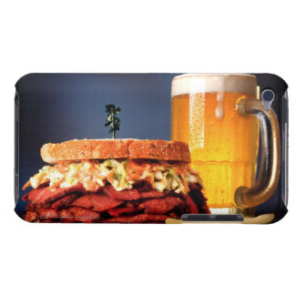 Pastrami sandwich with mug of beer barely there iPod covers