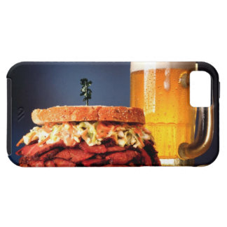 Pastrami sandwich with mug of beer iPhone 5 cases
