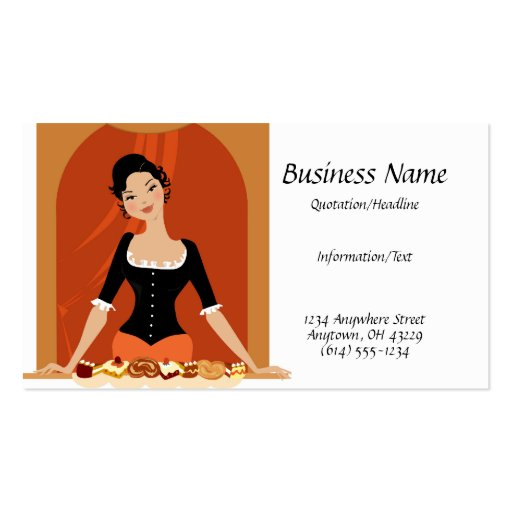 Pastries Lady Business Card
