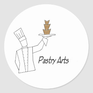 Pastry Arts Classic Round Sticker