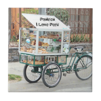 Pastry Cart - I Love Peru Ceramic Tile
