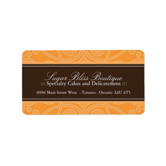 Pastry Chef Address Labels