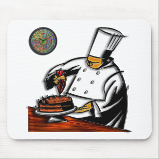Pastry Chef Art Mouse Pad