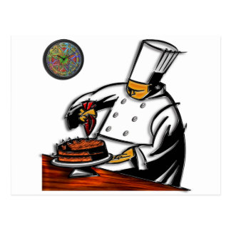 Pastry Chef Art Postcard