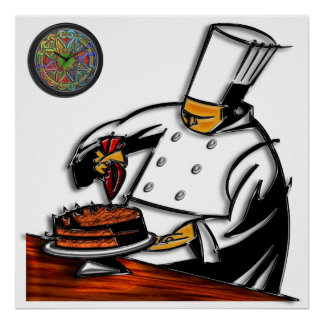 Pastry Chef Art Poster